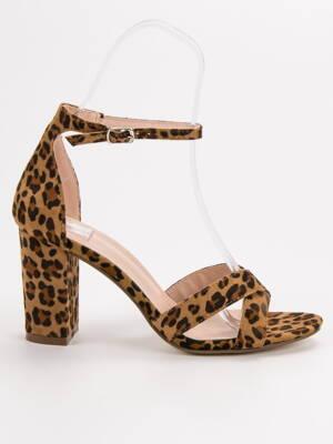 b4d7744f95fd Leopardie elegantné sandále BLOOM P-6399LEO