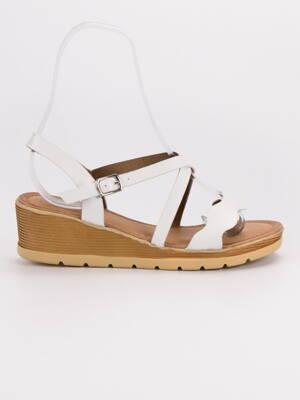 83807310db71 Biele sandále na kline OTELO 3K109-2W