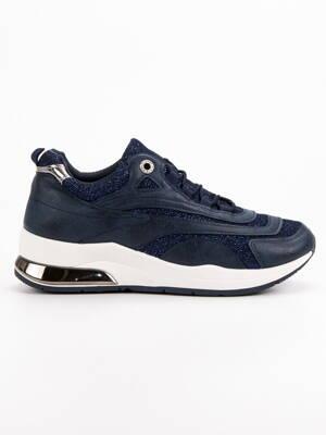 8ed19e4b20 Modré botasky na platforme