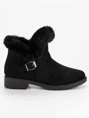 Zimné topánky s kožušinou SJ1821-1B d2598230145