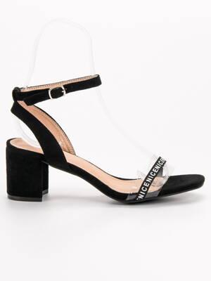 e49eaba4ccb2 Čierne sandále na opätku IDEAL S-7347B