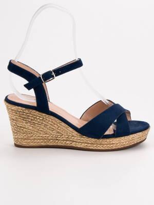 f59b68f3b139 Modré sandále s platformou 3K90BL