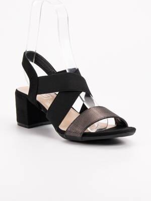 2d1fe6e9e209 Čierne dámske sandále BROKAT DS789 19B