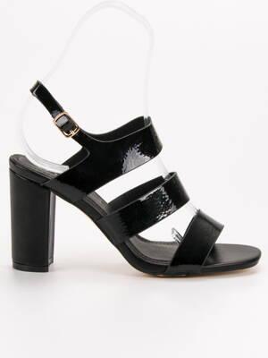 ef265363a96d Elegantné čierne sandále ROMA OD-336B