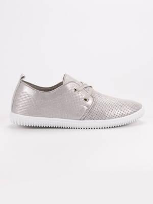 Sivé dámske topánky na jar 9736LT.G 8ce8d6dadce