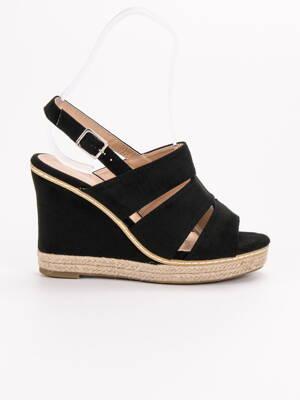 453063de3e Vysoké čierne sandále ORION 9069B