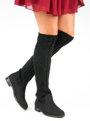 78cf55e711 Ponožkové čižmy na nízkom opätku