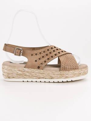 d631fce594d2 Kožené sandále na platforme ESPA B119-09-01C