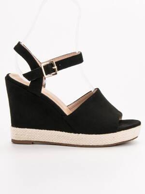 ddd2740bf4 Čierne platformové sandále TRISTAN 5M14-1B