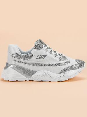 f6dd087f96 Brokátové biele botasky VICES 2233-41W