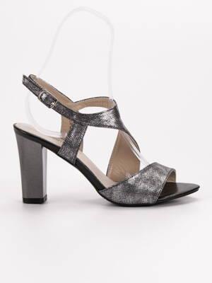 0e8e6dd99183 Strieborné sandále na opätku GD-FL141B