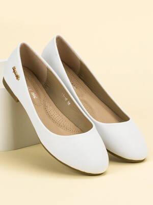 34e7d4572 Biele dámske balerínky ROMA 11-16W