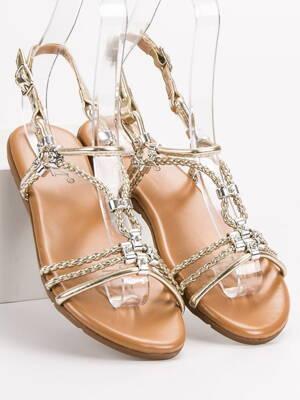 7c190e3faf Zlaté nízke sandále PARIS 839-739GO