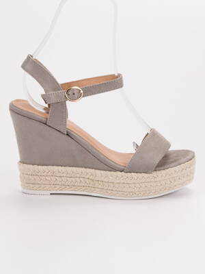 ffe12e0b3d75 Vysoké sivé sandále ESPADRO JS-2952G