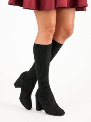 959fe6fc77 Ponožkové čižmy na opätku