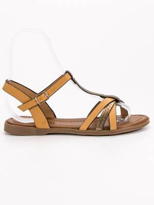 5c821fce5545 Nízke hnedé sandále SWAN JS13T
