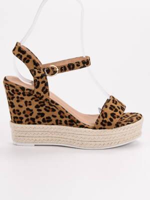 8ca7f91a122b Vysoké leopardie sandále ESPADRO JS-2952LEO