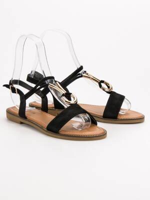 6f042638c3a3 Dámske čierne sandále na leto WL024B
