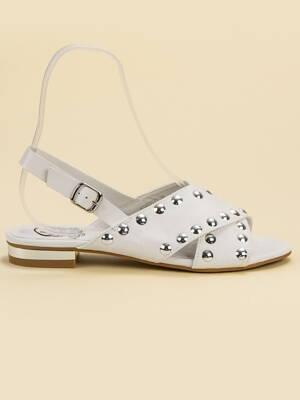 fce87d7ad926 Biele dámske sandále STYLE K1820501BLA