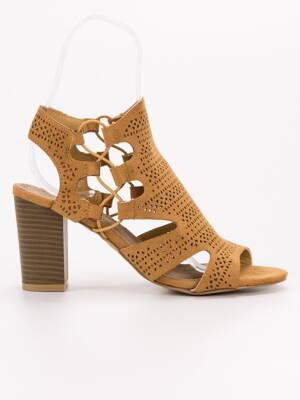 24f358fd10d4 Dámske horčicové sandále JASMIN GD-YB-20Y