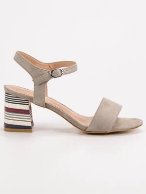 2d285fe239 Dámske béžové sandále na opätku LN19-4546G