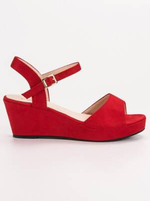 b4771fe323a4 Červené dámske sandále s platformou K-7R