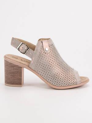 b15957a8b3 Kožené sandále FILIPPO DS757 19GO