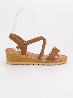 c08b8a215d84 Hnedé sandále na kline OTELO 3K109-4C