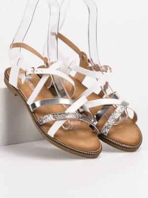 c440ec0691 Biele sandále ERIN LS017T0-1W