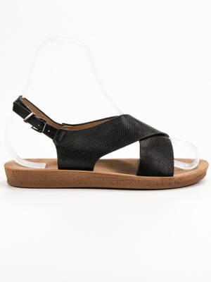 98de1fb35f Čierne nízke sandále ROMEO TS-15B