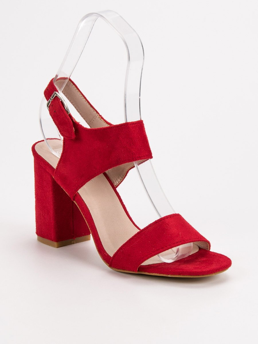 d3ee09ea757c3 Červené dámske sandále VINCEZA YQE-17003R
