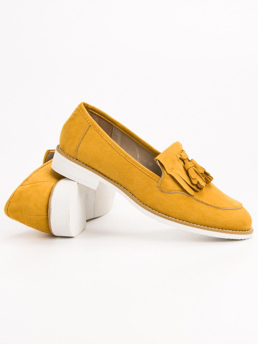 0387e9ce00 Dámske žlté topánky na jar 7318-26Y