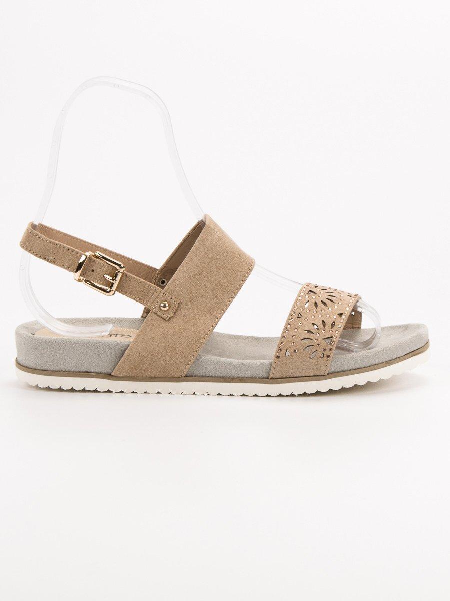 1bb79808221c Nizke béžové sandále ELEGANCE 9SD35-0991BE