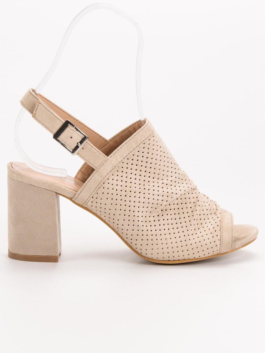 681f38e38c Dámske vysoké sandále SIXTH TS-21BE