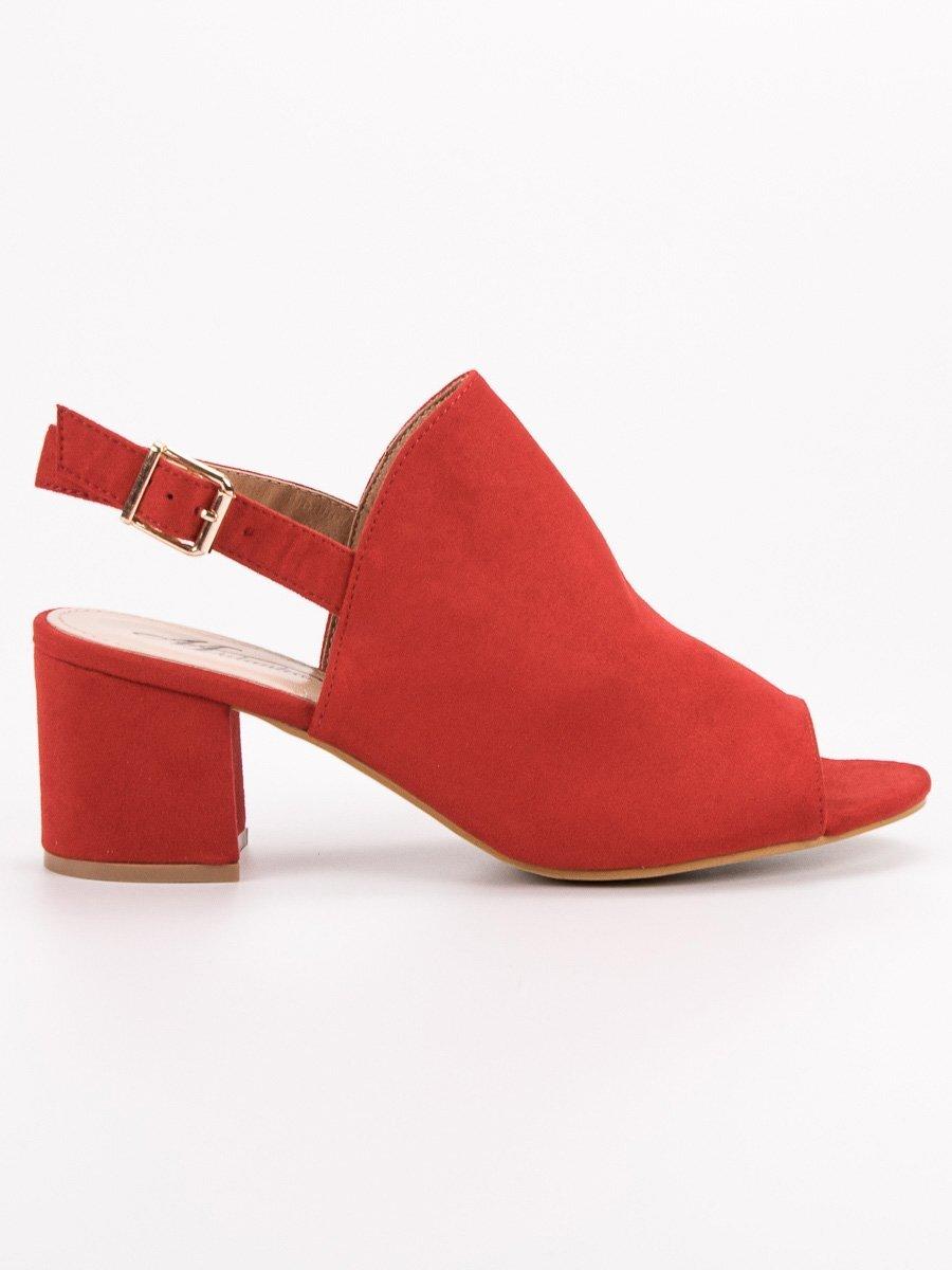 a1db202144c45 Červené dámske sandále TWIN MB-40R