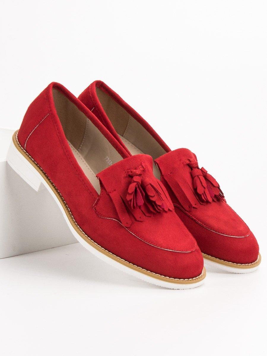 31498937e374 Dámske červené topánky na jar 7318-19R