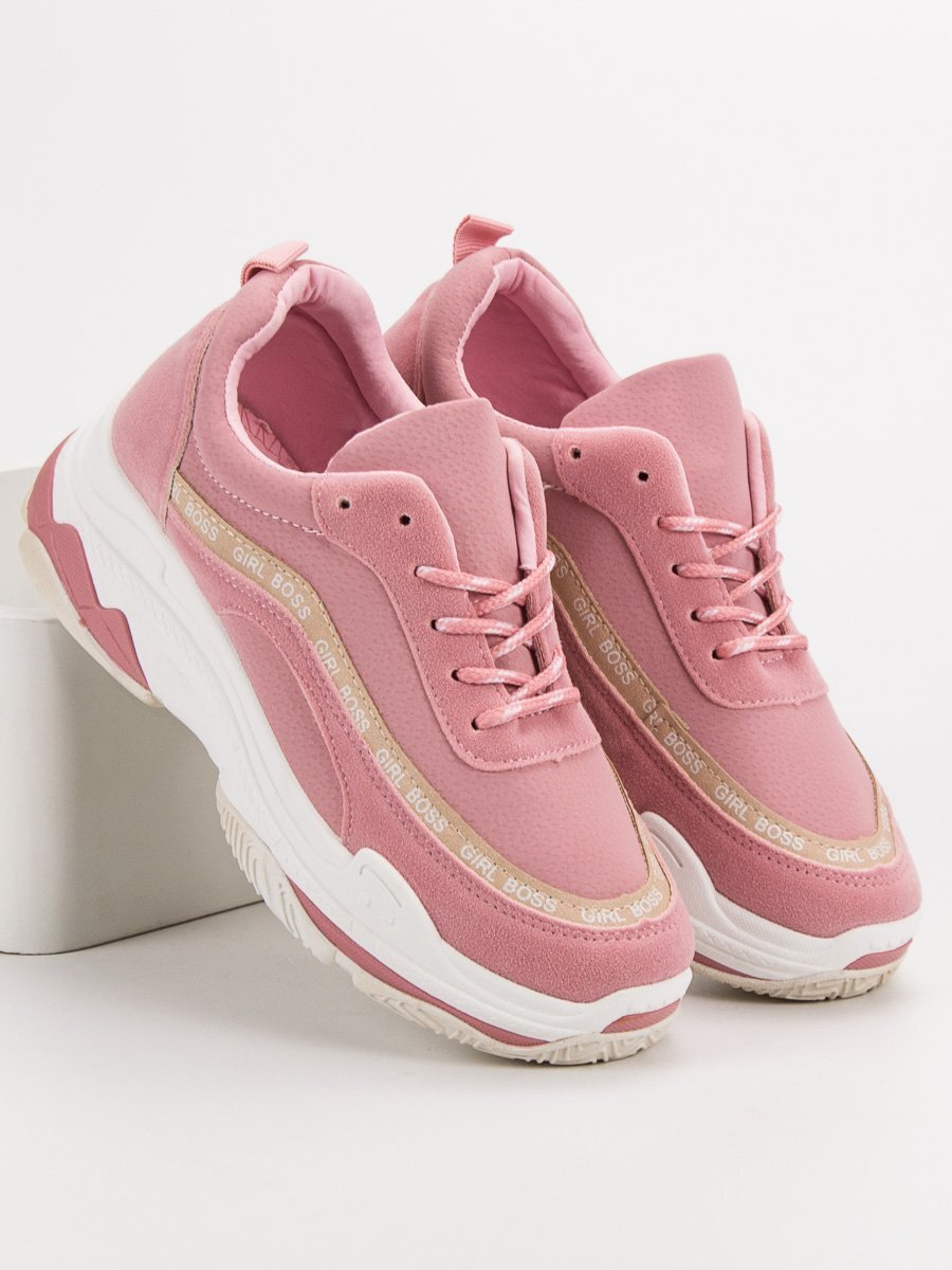 164355f424e9 Ružové tenisky na platforme 8439-20P
