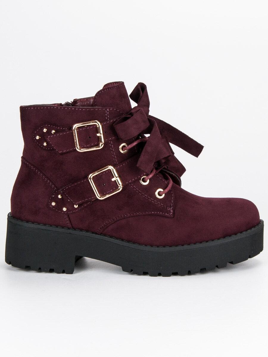 bd4980073dab Semišové topánky na platforme MDM122WI