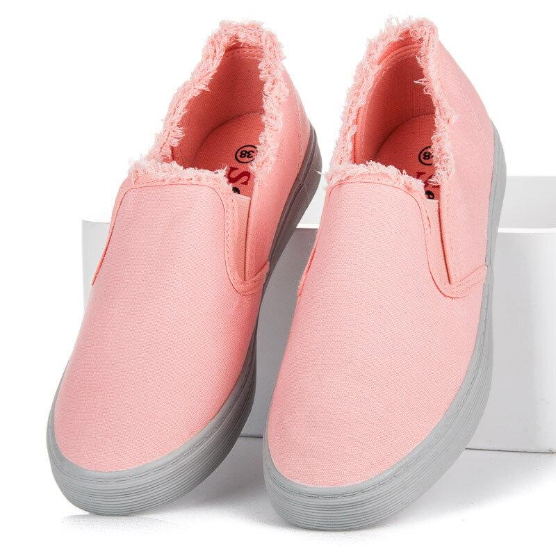 Ružové dámske tenisky slip on NB166P G 9391c5f929f