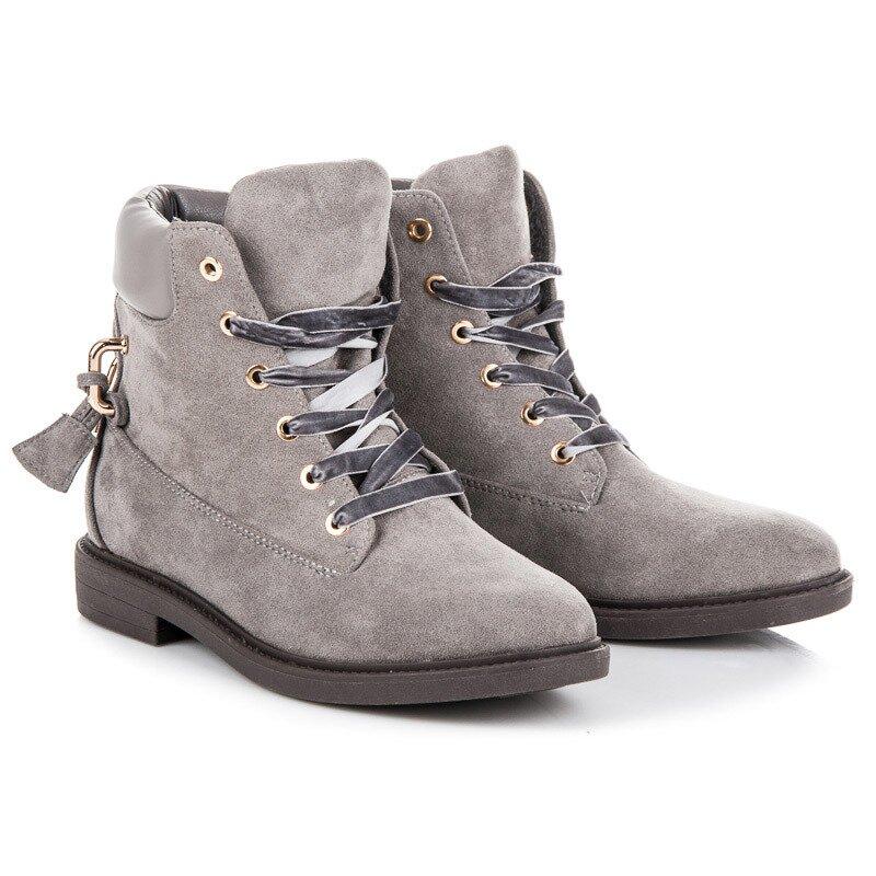 e0758398c96e Semišové topánky IDEAL J-8686G