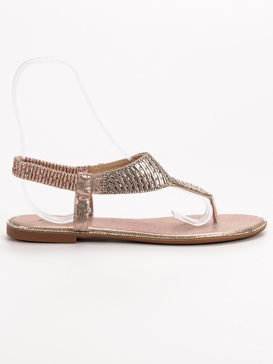3774817e663e Zlaté sandále na leto SUMMER JN1359CH