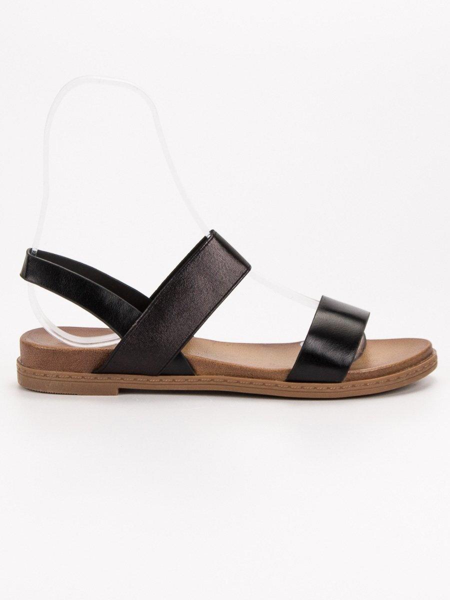 b102bacc9cca Dámske čierne sandále HOLLY WL036B