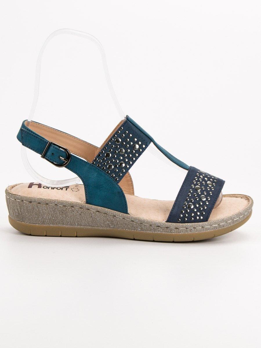 108263c2fe80 Dámske modré sandále KRISTAL K1818305JE