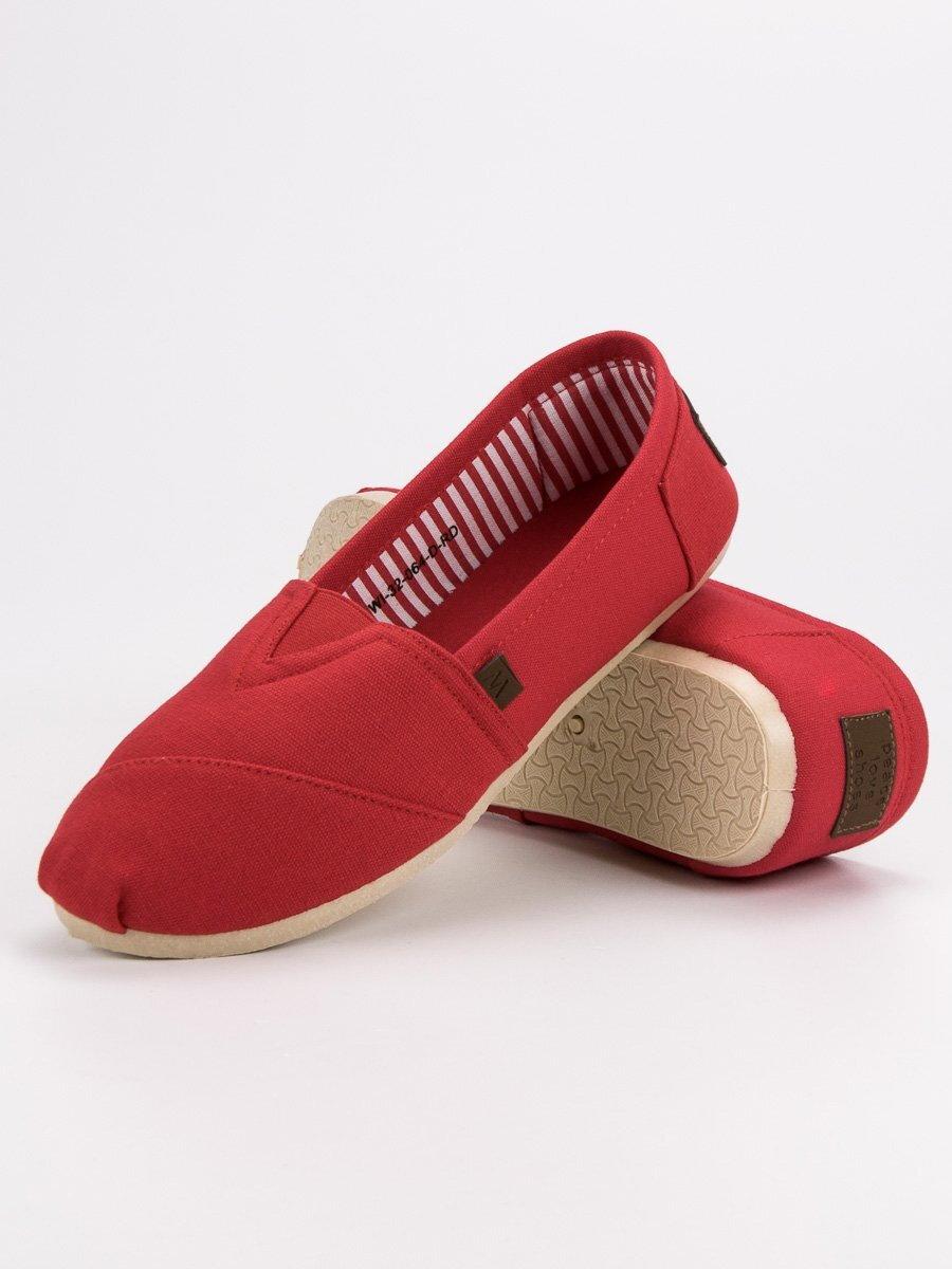 bf09cce079 Dámske červené tenisky na leto WI-32-064R