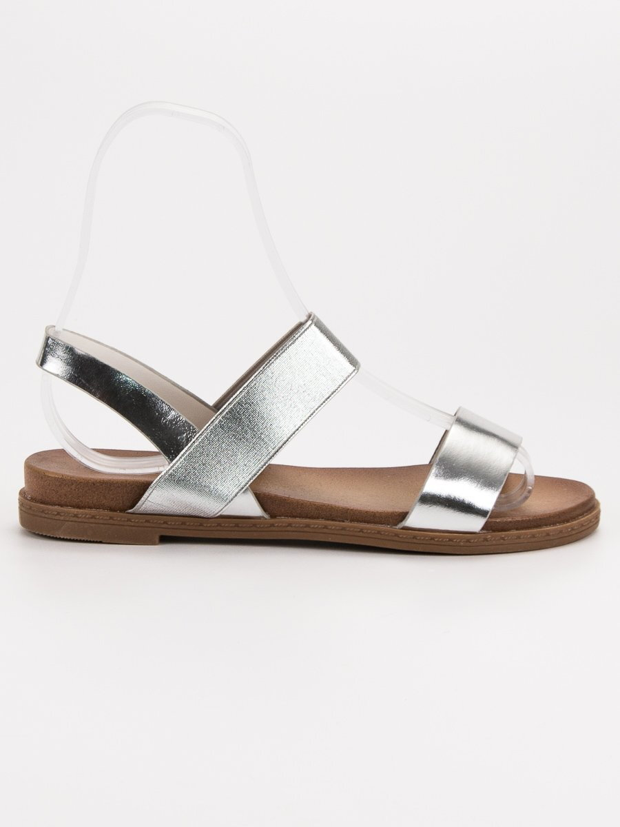 fea58f26b4d0 Dámske strieborné sandále HOLLY WL036S