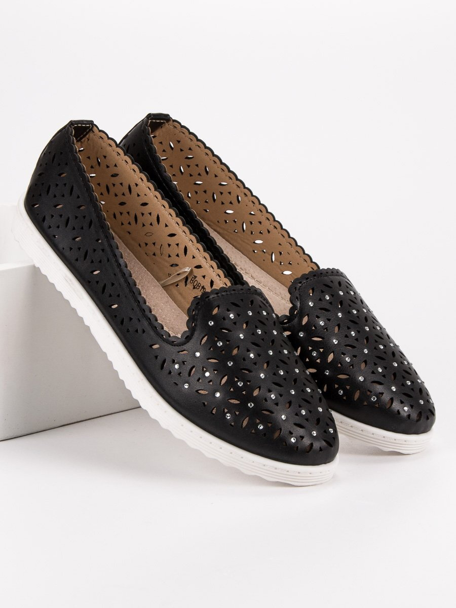 5d9243992d Čierne jarné topánky VINCEZA BOB19-18003B