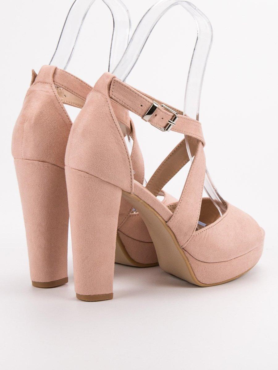 b8ce52a8bd60b Ružové sandále na platforme KK13P