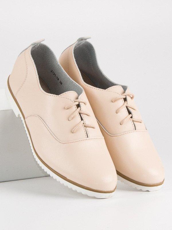 c5f7ecfcd99c Dámske béžové kožené topánky MAZARO 2191-14BE