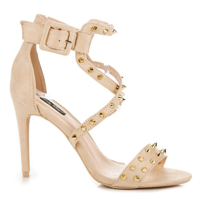 8562aa2eb1bc Béžové dámske sandále