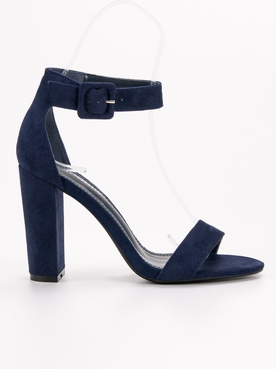 237efdf6e Modré sandále na opätku FASHION GD-LL-50N